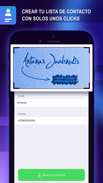 Screenshot for Business Card Holder: Contacts in Spain App Store
