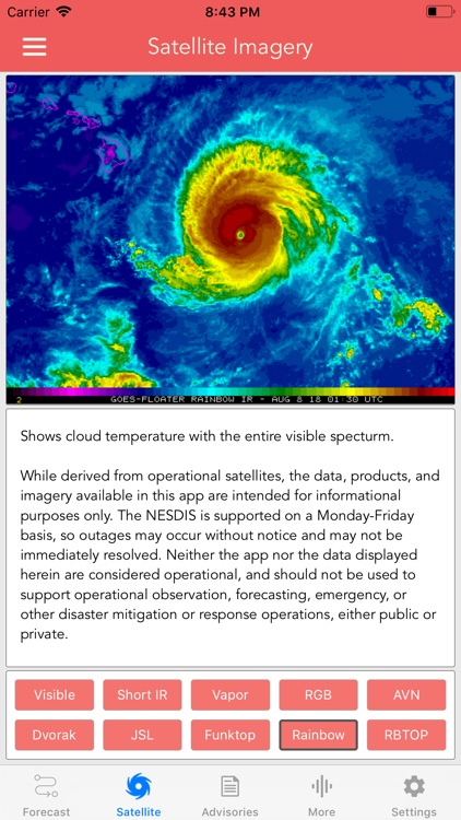 National Hurricane Center Data screenshot-4