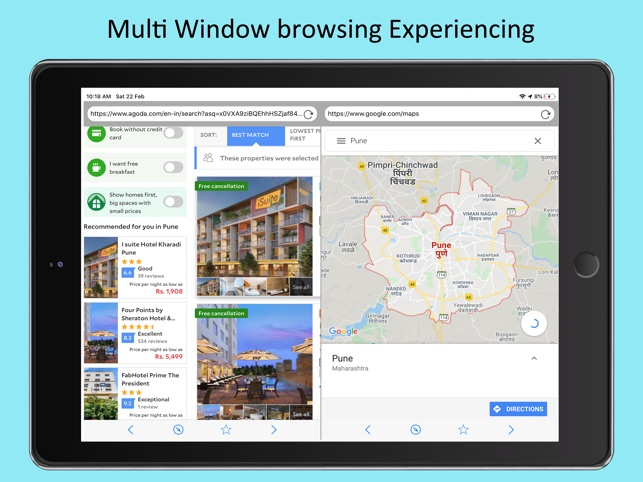 Split-Multi Window Browsing