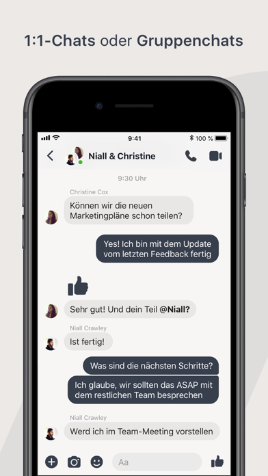 Screenshot for Workplace Chat by Facebook in Austria App Store