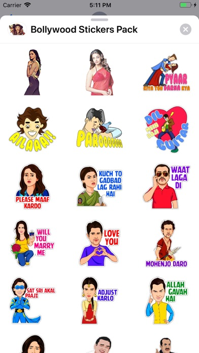 Screenshot of Bollywood Stickers Pack App