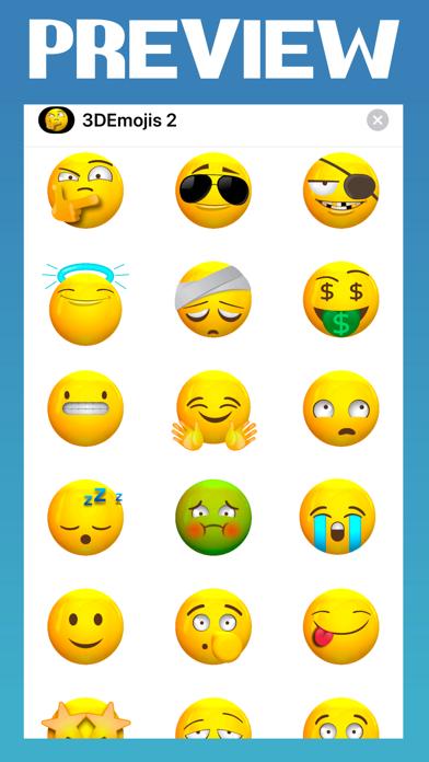 Screenshot of Animated 3d Emojis 2 App