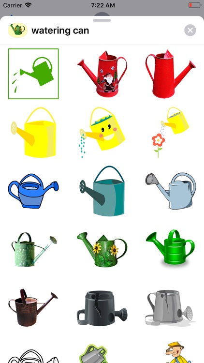 Watering Can Stickers