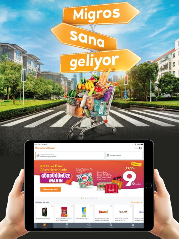 Migros Sanal Market ipad ekran görüntüleri