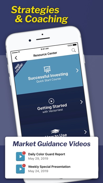VectorVest Stock Advisory Screenshot