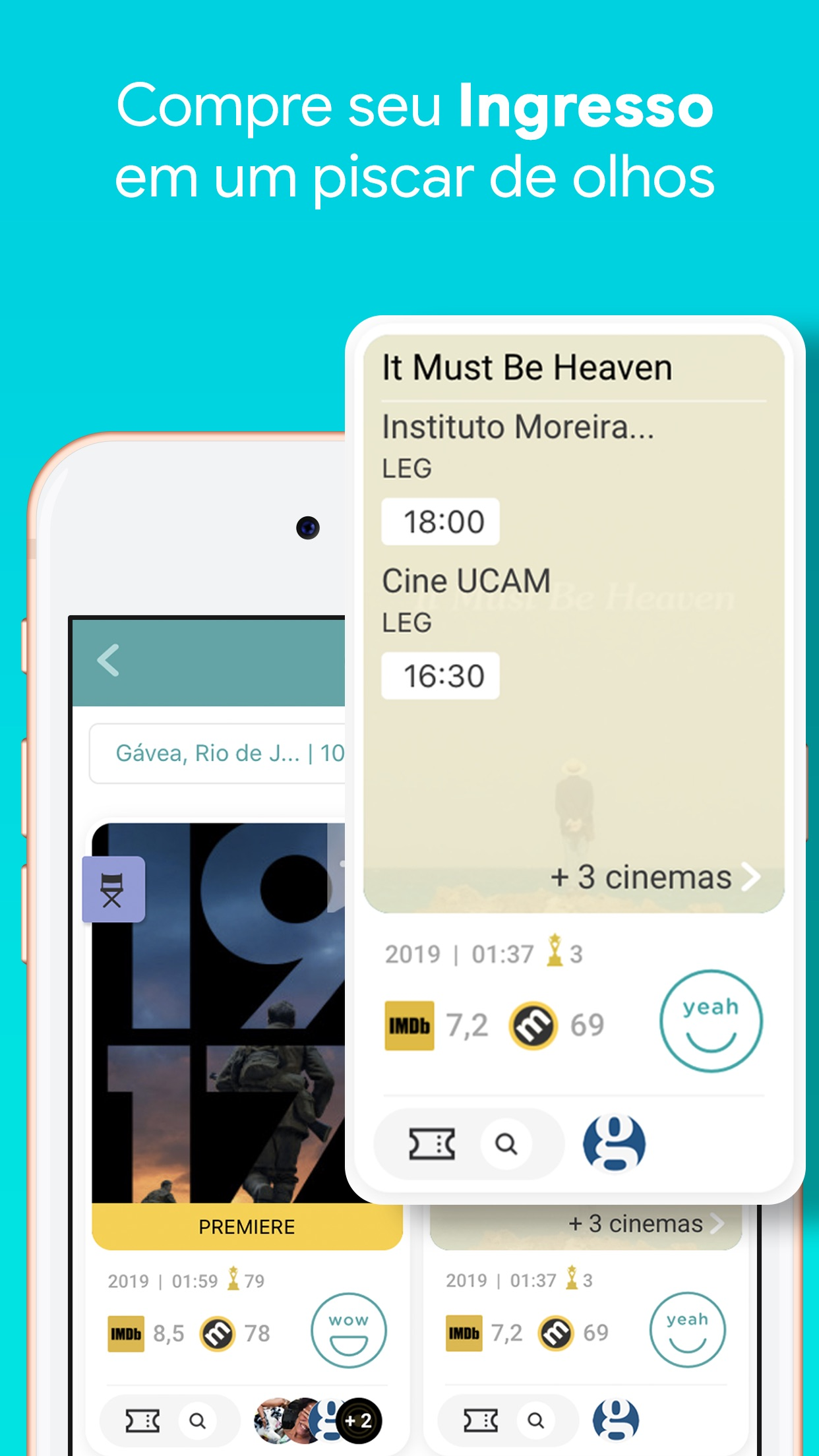 Screenshot do app MateRate - Filmes e Séries