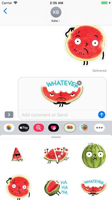 Watermelon Emojis app image
