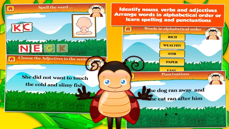 Bugs Second Grade Kids Games screenshot-3