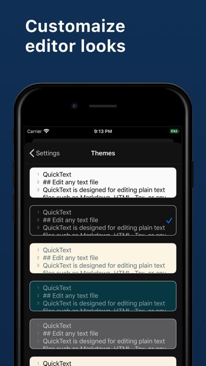 QuickText - Plain Text Editor screenshot-3