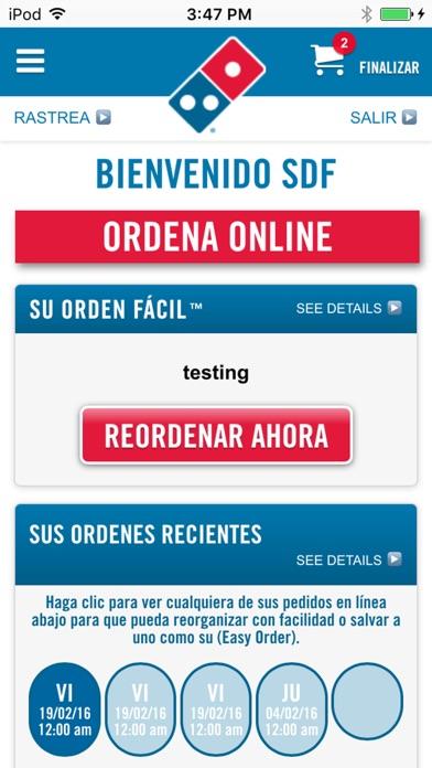 Screenshot for Domino's Pizza Caribbean in Venezuela App Store