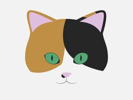 Lisa the Calico Cat Stickers