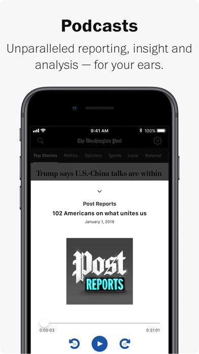 Screenshot for Washington Post in United States App Store