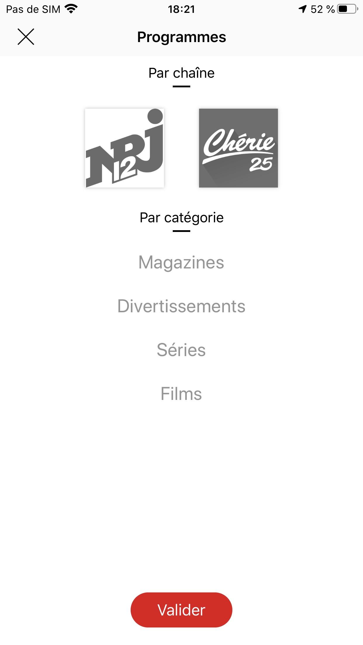 NRJ Play, en direct & replay Screenshot