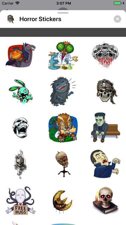 Horror Stickers by Hamid OUCHLAH