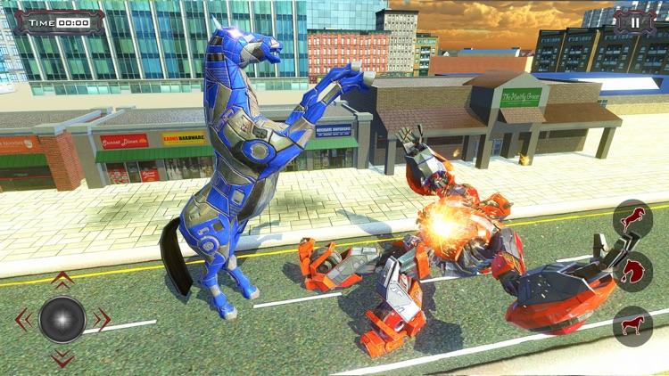 Police Robot Car - Horse games screenshot-7