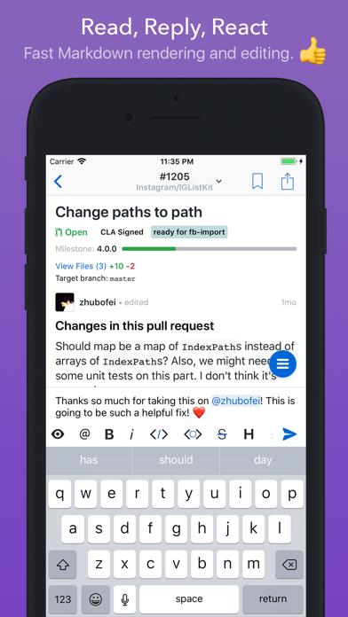 Скриншот №2 к GitHawk for GitHub