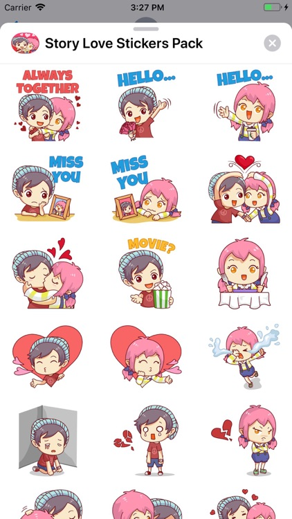 Story Love Stickers Pack