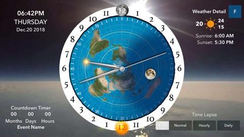 Screenshot #6 for Flat Earth Sun & Moon Clock