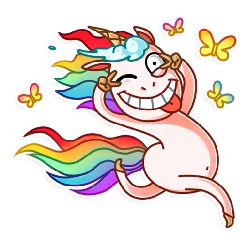 Crazy Pony Funny Stickers