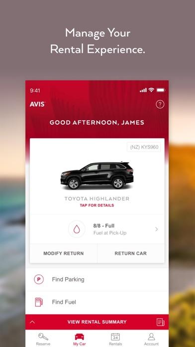 Avis Car Rental screenshot two