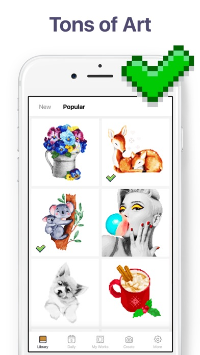 Pixel Art - Color by Number app image