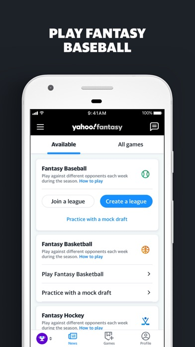 Yahoo Fantasy & Daily Sports Screenshot