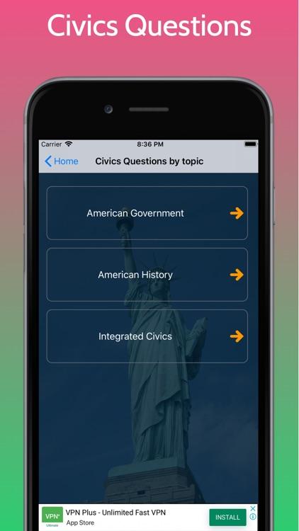 US Citizenship Test - Civics screenshot-4