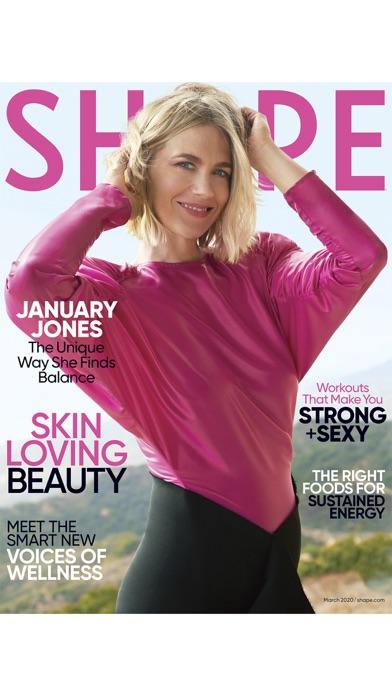 Shape Magazine review screenshots