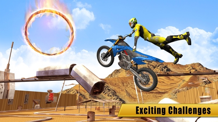Bike racing megaramp stunts 3D screenshot-0