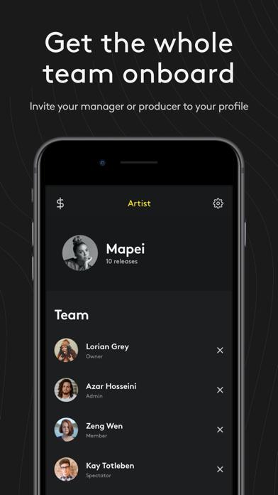 Amuse Music Distribution Screenshot