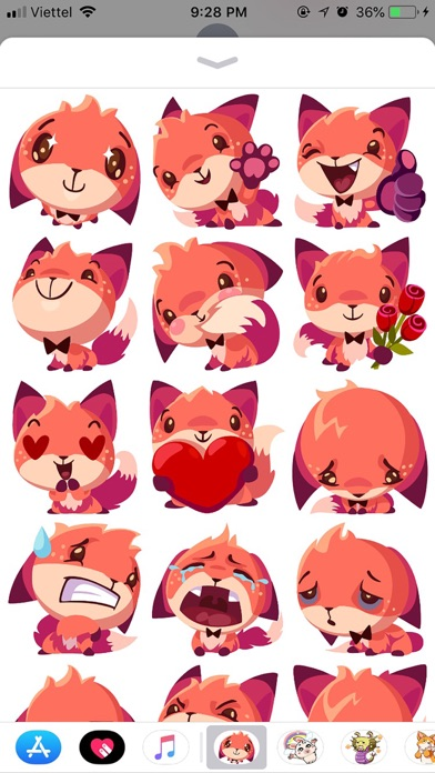 Fox Cute Pun Funny Stickers screenshot 1