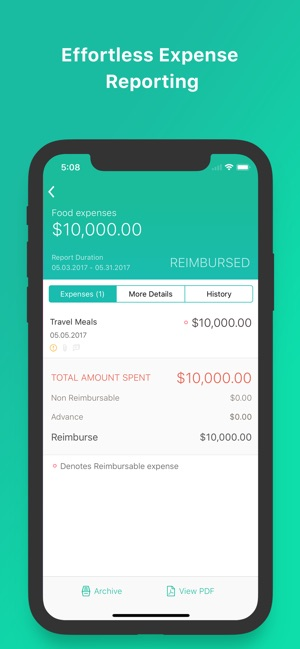 expense reporting app zoho on the app store