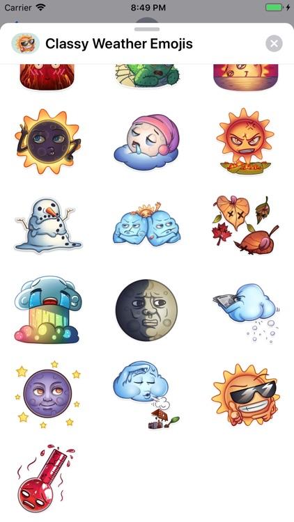 Classy Weather Emoji Stickers