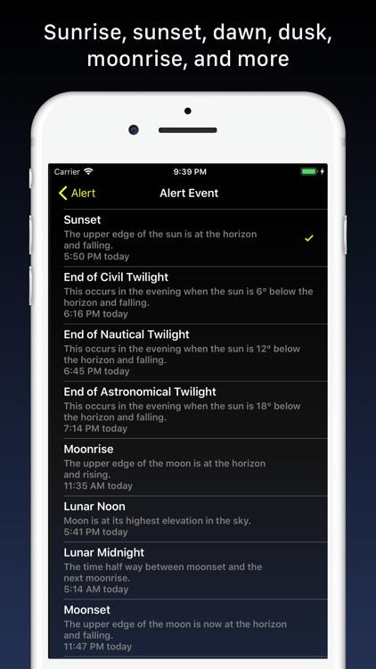 Sundial - Solar & Lunar Times screenshot-3