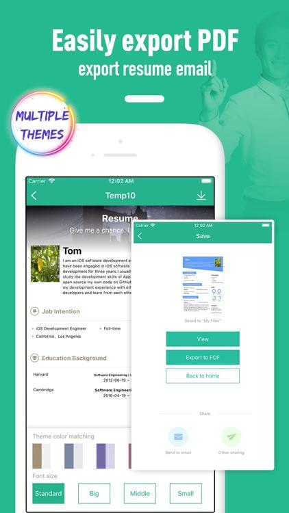 Resume builder - template screenshot-5