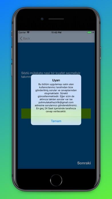 Screenshot for PÖH Mülakat Hazırlık in United States App Store