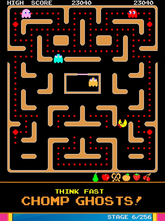 Screenshot from Ms. PAC-MAN for iPad