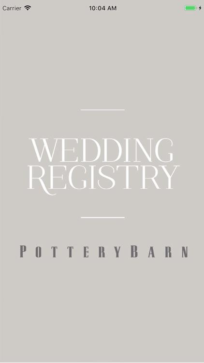 Pottery Barn Wedding Registry