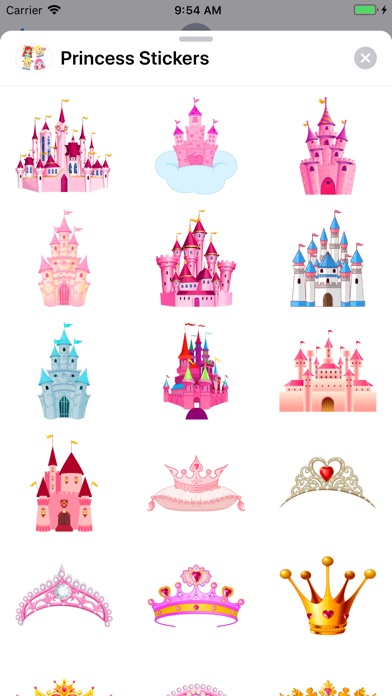 Screenshot for Princess Stickers in United States App Store