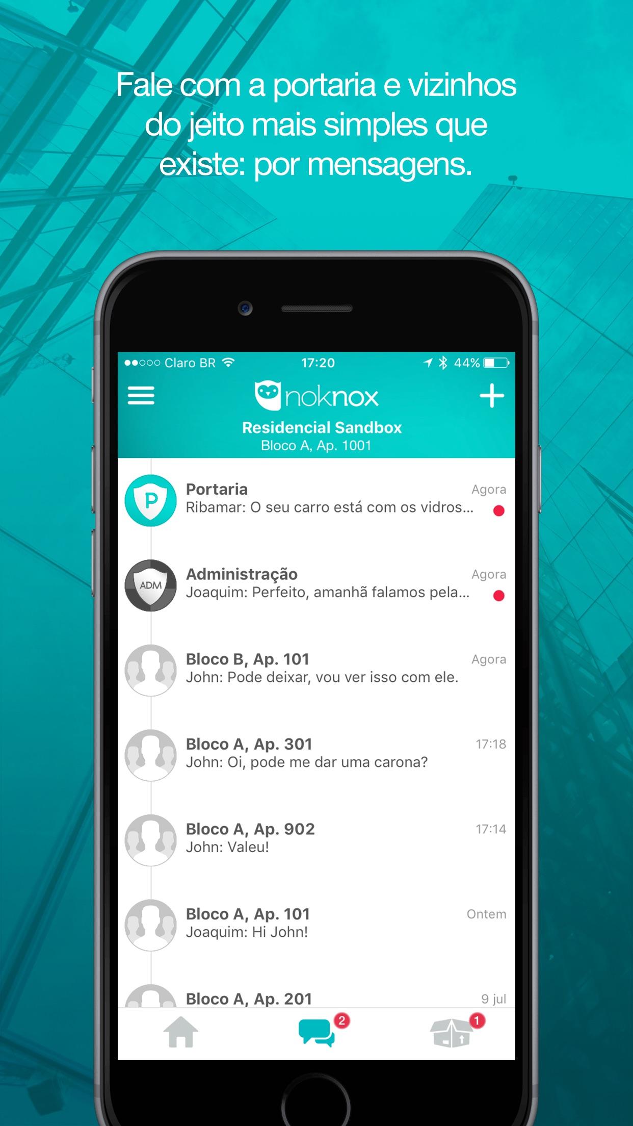 Screenshot do app Noknox - App do Condomínio