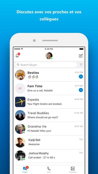 Screenshot for Skype pour iPhone in Lebanon App Store