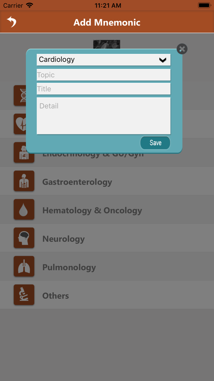 Clinic Pathology Mnemonics Screenshot