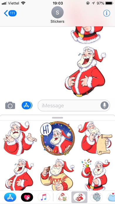 Christmas Santa Funny Stickers screenshot 3
