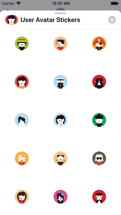 User Avatar Stickers