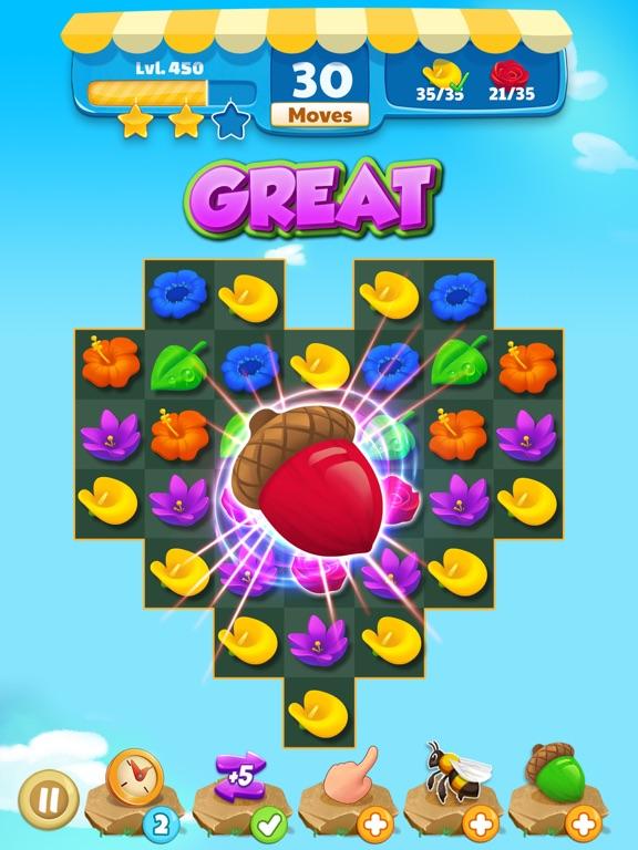 Flower Legends Match 3 screenshot 7