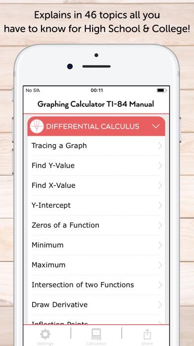 Screenshot for TI-84 CE Calculator Manual in United States App Store
