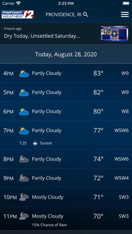 WPRI Pinpoint Weather 12