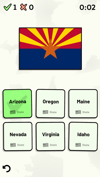 US States Quiz screenshot two