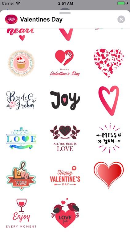 Valentines Day Love Stickers screenshot-3