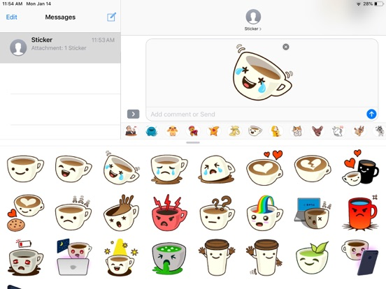 Cup Cute Pun Funny Stickers screenshot 4